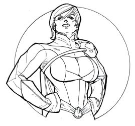 DC Hotties: Power Girl by guinnessyde
