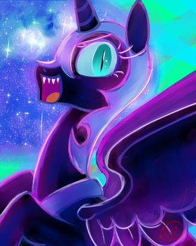 Daily Draw: Nightmare Moon by RyuRedwings