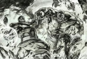 THANOS vs HULK by grandizer05