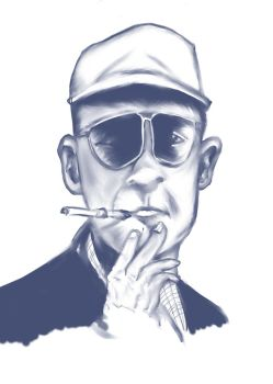 Hunter S. Thompson by frogman354