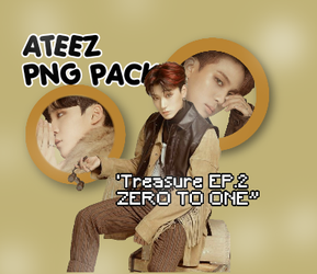 [png Pack #1]: Ateez 'treasure Ep. 2 Zero To One' by pandaonlyhu