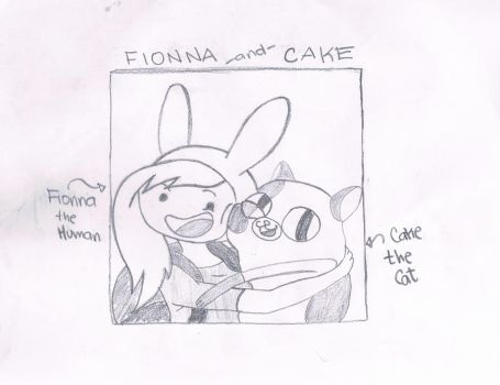 Fionna and Cake from Adventure Time by OhMyGoshGirl