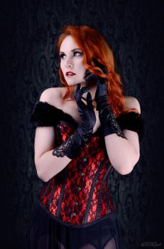 Red Corset by Luin-Tinuviel
