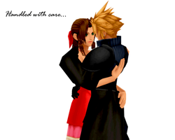 Cloud and Aerith by IntenseObservation