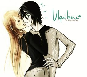 ulquihime. unexpected kiss by lebedevalen