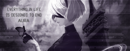 Nier Automata 2B Glitch Signature by Rosey-Rose