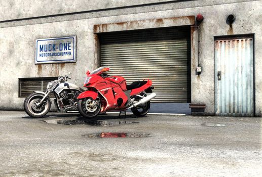 Motorcycle workshop by MUCK-ONE
