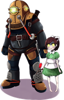 Big daddy and little sister by Ryotashi