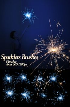 Brushes: Sparklers by yourstock
