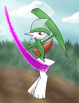 Gallade preparing Psycho cut by narupit