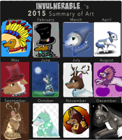 My 2015 Summary of Art :) by InvulnerableAJ