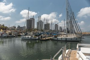 always Tel Aviv - view from the yacht by Rikitza