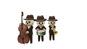 [OLD] Skeleton Orchestra by FreezyChanMMD