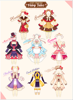 [CLOSED] Fairy Tales Outfit Adoptable #10 by Black-Quose