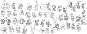 Chao Sketches by TheStiv