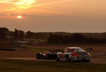 Sunrise at Le Mans 24h 2010 by DaveAyerstDavies