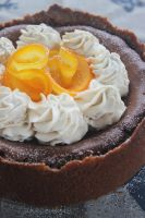 Choc Orange Baked Cheesecake by cakecrumbs