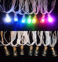 A RAINBOW of LED Zelda Fairy Bottle Necklaces!!! by Linksliltri4ce