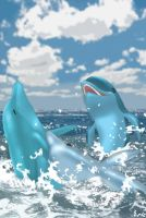 dolphin friend by Ericorion