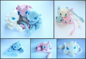 Mew Brothers - Pokemon Handmade Plushies