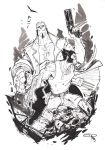 Hellboy and Logan - Commission by DenisM79