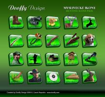 Hunting icons Pack by Dooffy-Design