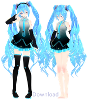 [MMD] Default Hatsune Miku [!!Download!!] by Kilsoph