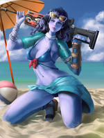 Summer Widowmaker by EllieMapleFox