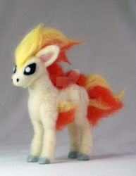 Needle Felted Ponyta Pokemon by The-GoblinQueen