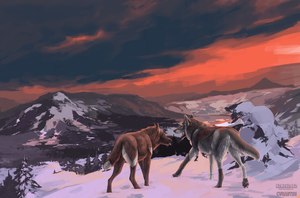 Collab - Snowy mountains by CasArtss