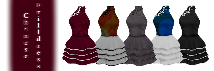 [MMD] Chinese Frilldress - DL by JoanAgnes