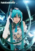 Miku Racing Queen 2012 space by yukigodbless