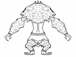 Ape Soldier Reference Back View by XxTheReptileGirlxX