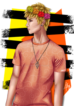 Naruto The Flower Boy by LexLithium