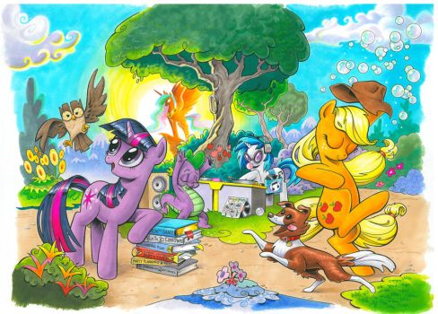 My Little Pony issue 1 Cover A and B by andypriceart