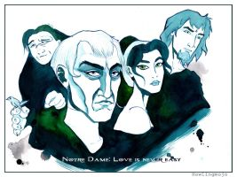 Hunchback of Notre Dame: Love is never easy by Howlingmojo