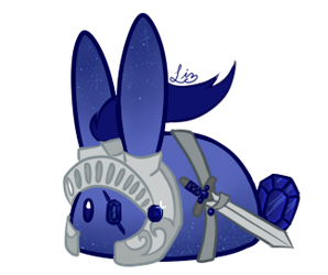 Valiant Sapphire Knight Cake Bunbon [CLOSED] by Tinypaperdresses