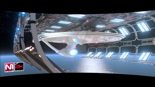 USS Enterprise NCC-1701-A CINEMATIC-FILMS render 2 by calamitySi