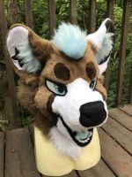 Hel Fursuit Head by Ariokkii