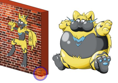 :COM: Flat and Flated Zeraora Color by Arrowny18