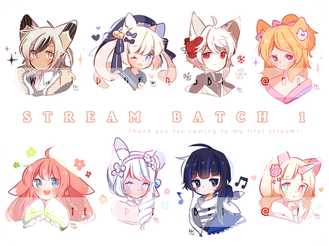 Stream Batch 1 by whitepaperrabbits