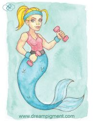 Fitness Mermaid - MerMonday August 6th 2018 by DreamPigment