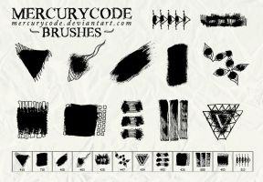 Brushset 10: paint and scribble by mercurycode