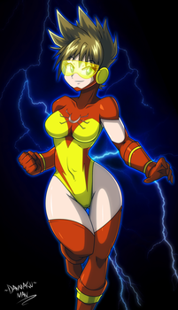 Commission: Super Tracy by DANMAKUMAN