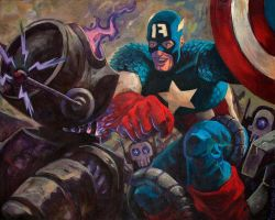 Captain America: Robot Puncher by timswit