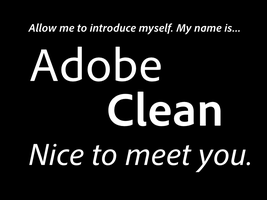 A font you will find very clean. by DLEDeviant