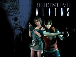 Resident Evil: Aliens - Claire and Jill by Big-Al-Son86
