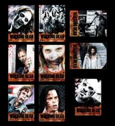 Walking Dead Cards B by AstroVisionary