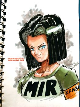 Android17 colored by Mark-Clark-II