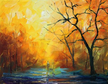 Fog  1 by Leonid Afremov by Leonidafremov